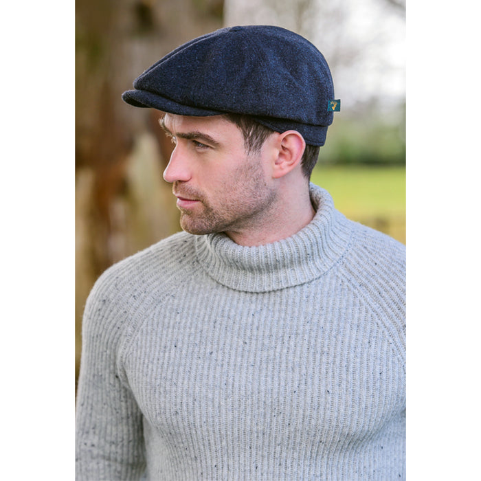 model of charcoal trinity cap by mucros weavers
