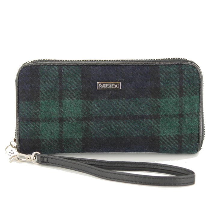 front of tweed wallet color 196-1 by mucros weavers