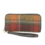 front of tweed wallet color 321 by mucros weavers