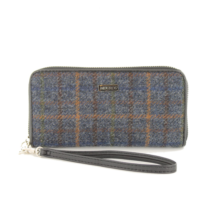front of tweed wallet color 781 by mucros weavers