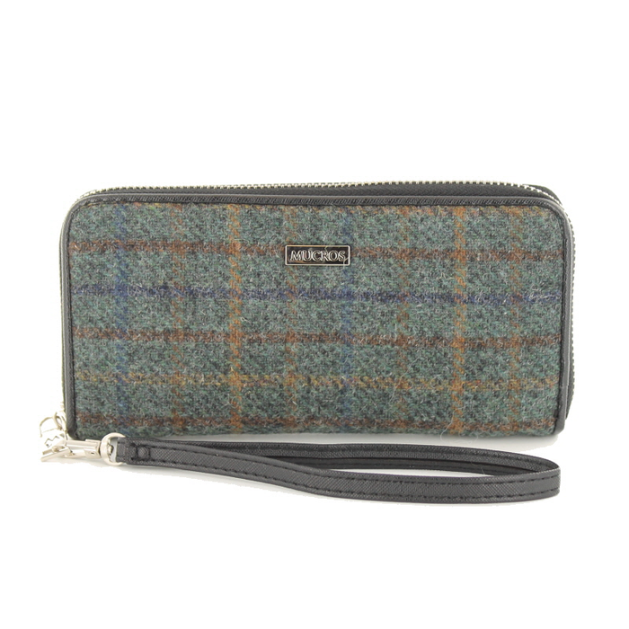 front of tweed wallet color 782 by mucros weavers