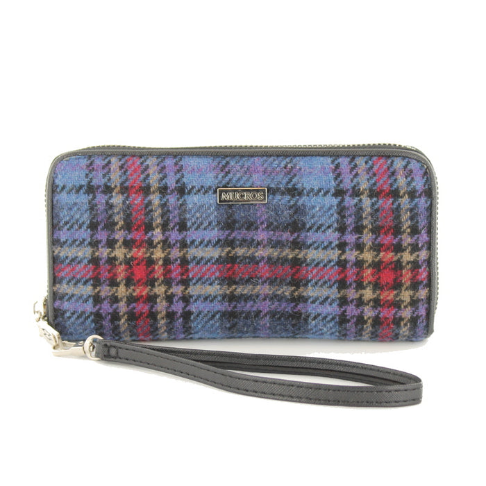 front of tweed wallet color 801-3 by mucros weavers