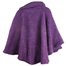 back of mulberry purple laura poncho by branigan weaver