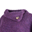 up close button of mulberry purple laura poncho by branigan weaver