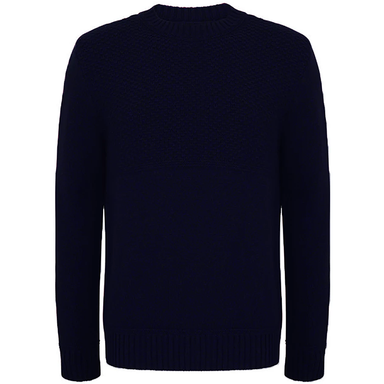 front of mcconnell woollen navy burren sweater pullover
