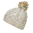 oatmeal wool cable knit hat by west end knitwear