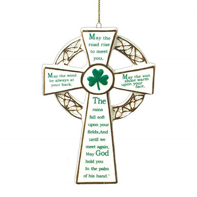 Porcelain Irish Cross Ornament
