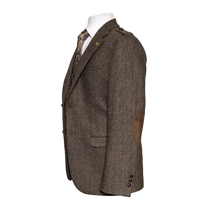 tweed sport coat with elbow patches