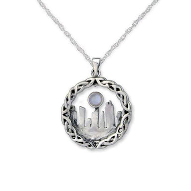 outlander inspired pendant silver moonstone by hamilton and young