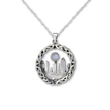 outlander inspired standing stone moonstone pendant by hamilton and young