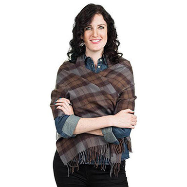 model of authentic lambswool tartan stole inspired by outlander series