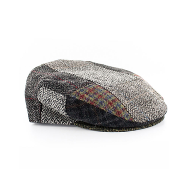 tweed wool trinity patchwork cap