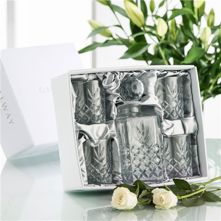 Galway Crystal Renmore Boxed Decanter Set
