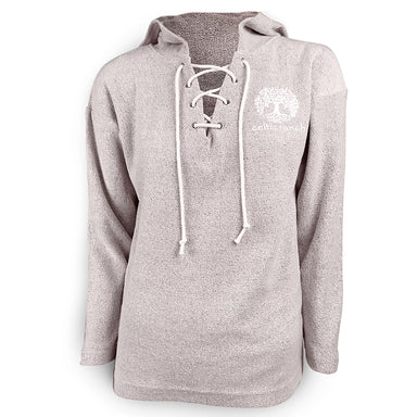 front of rose lace up hoodie by celtic ranch
