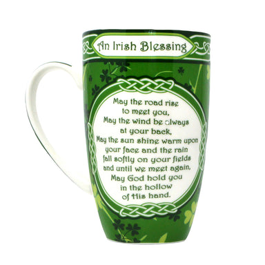 Irish Blessing Shamrock Garden China Mug