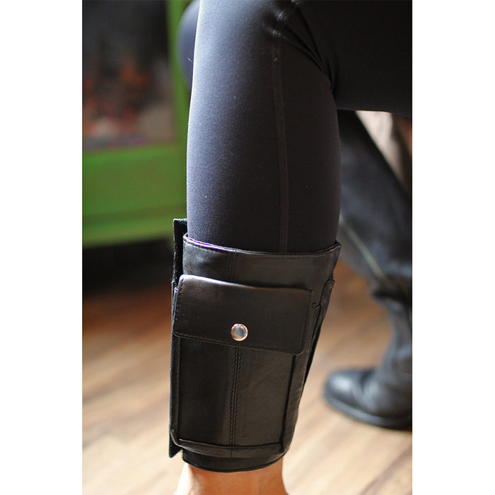 model of leather velcro ankle wallet