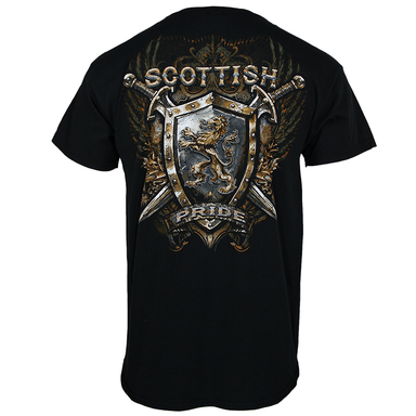 back of scottish pride t-shirt