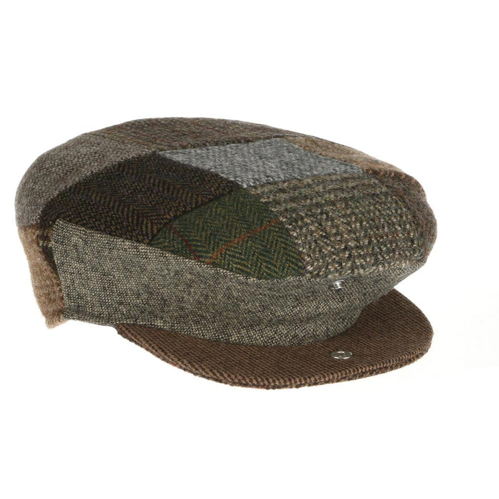 open traditional flat patch cap by hanna hats