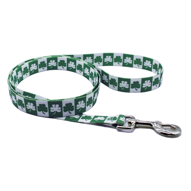 shamrock dog leash by burke and hogan