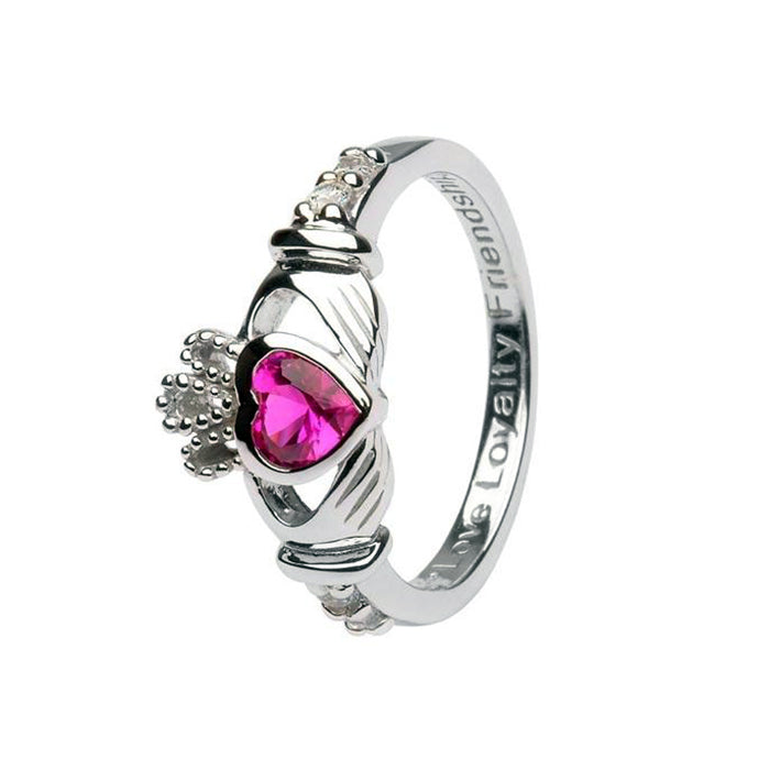 july birthstone claddagh ring by shanore
