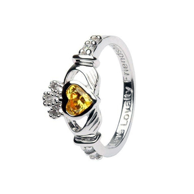 november birthstone claddagh ring by shanore