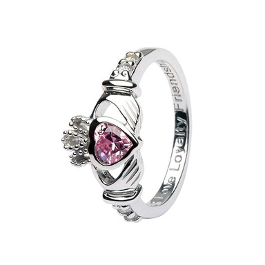 october birthstone claddagh ring by shanore