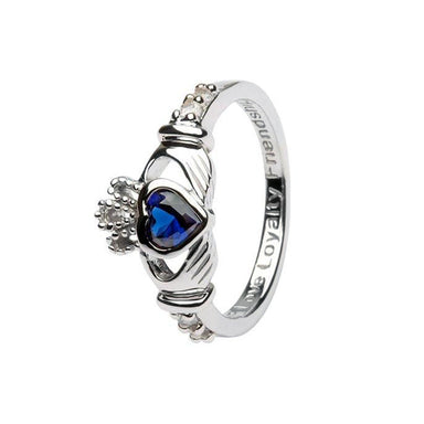 september claddagh birthstone ring by shanore
