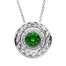celtic halo pendant adorned with swarovski crystals by shanore