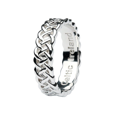 sterling silver celtic weave ring by shanore