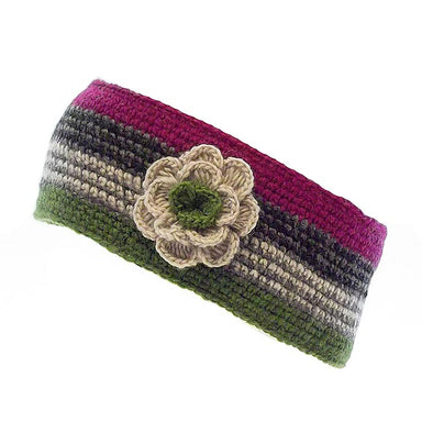 Erin Knitwear Crochet Headband with Small Removeable Flower
