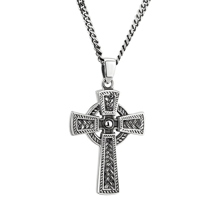 heavy duty sterling silver celtic cross by solvar