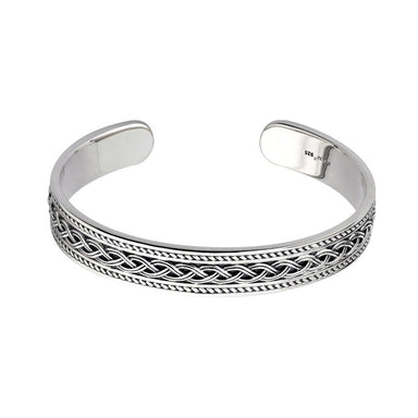 Sterling Silver Celtic Knot Braid Bangle