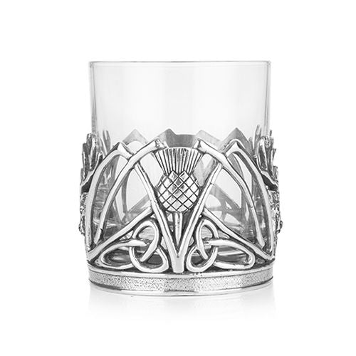 Stag and Thistle Whisky Tumbler and Glass