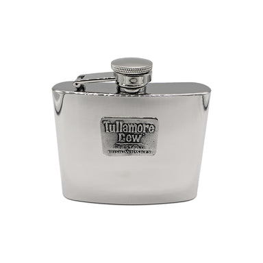 tullamore dew stainless steel hip flask by mullingar pewter
