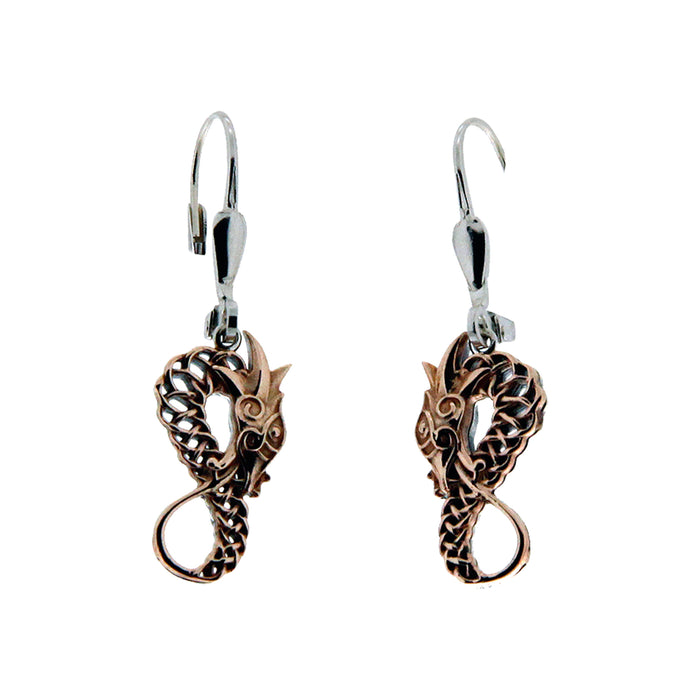 bronze dragon leverback earrings by keith jack