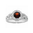 garnet trinity ring by jmh