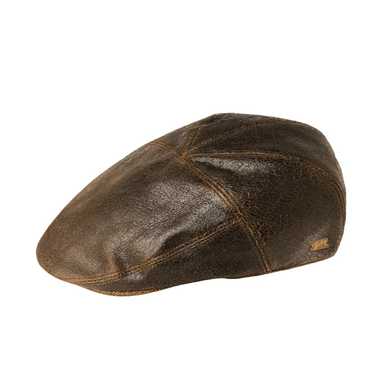 bailey taxten brown leather cap