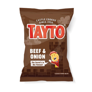 tatyo beef and onion potato crisps by food ireland