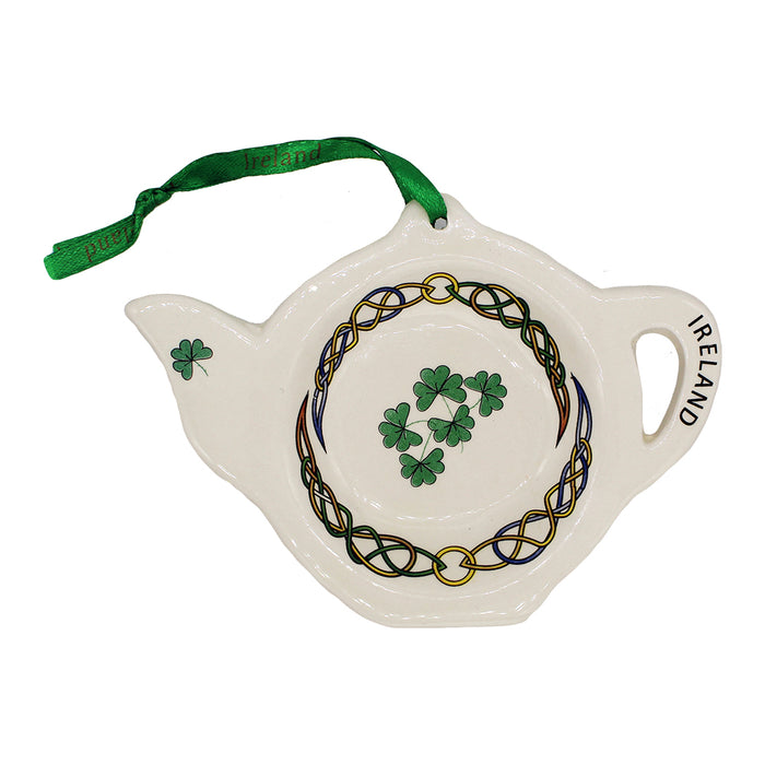 Ceramic Teabag Holder Shamrock