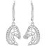 sterling silver horse head leverback earrings by the jewellery house celtic designs