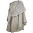 side view of beige tina cape by branigan weavers