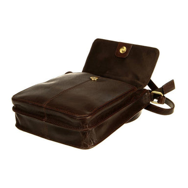 open tinnakeenly brown leather pub bag