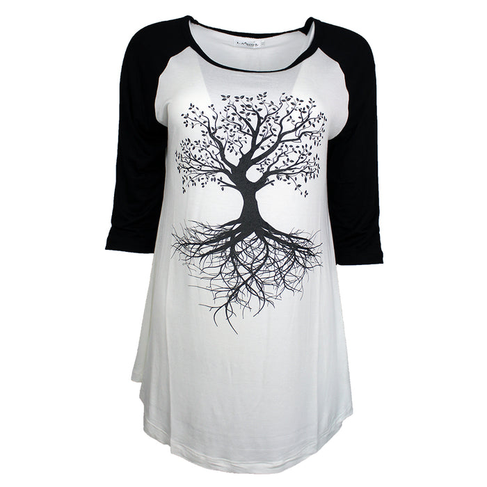 black and white tree of life tee by la soul