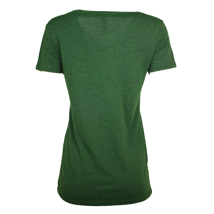 back of emerald tree of life v-neck t-shirt