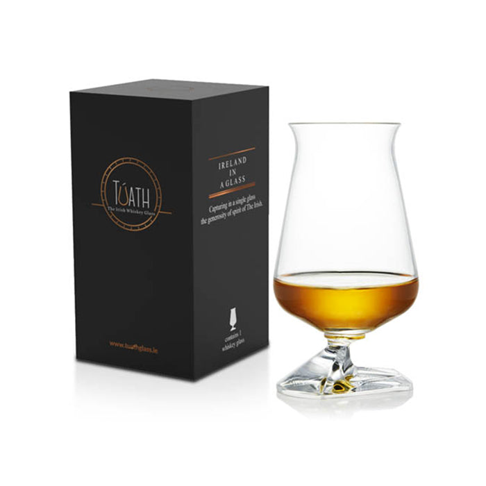 tuath whiskey glass with box