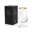 tuath whiskey glass gold rim with box