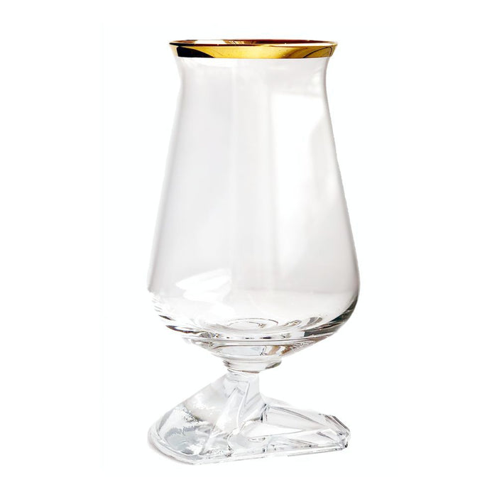 tuath whiskey glass gold rim