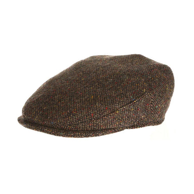 vintage flat cap tweed brown salt and pepper by hanna hats