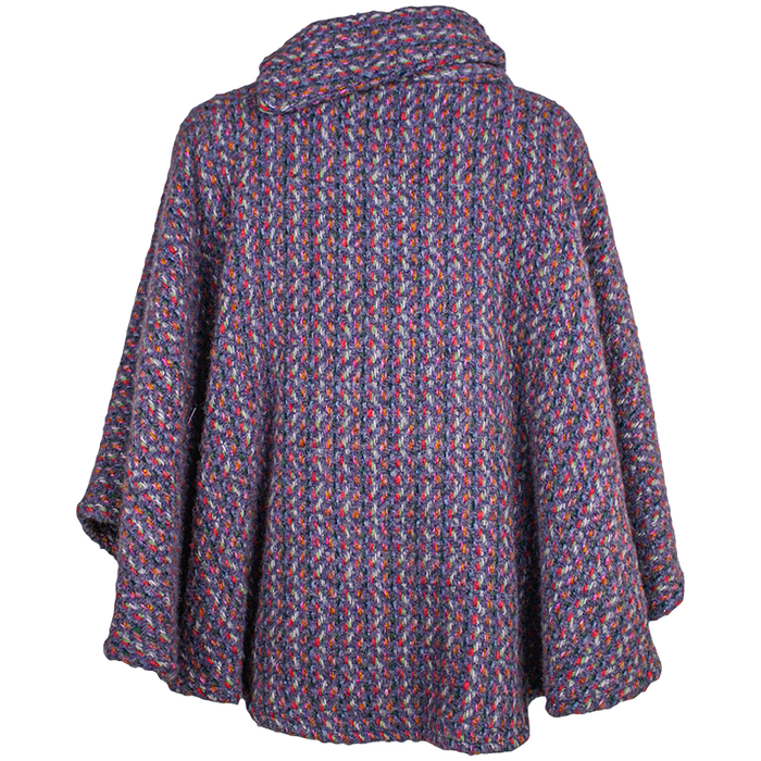back of violet laura poncho by branigan weaver