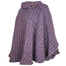 side view of violet laura poncho by branigan weaver